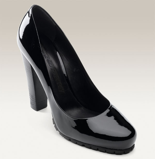Burberry Lug Sole Patent Leather Pump