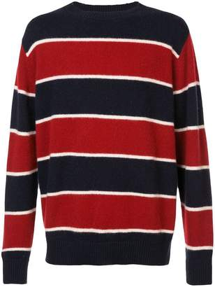 The Elder Statesman cashmere super stripe crew neck jumper