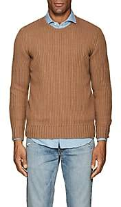 Eleventy Men's Rib-Knit Cashmere Sweater - Tan Stripe