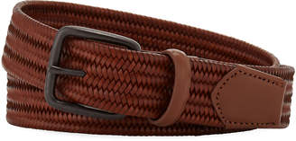 Neiman Marcus Men's Mini-Weave Leather Belt