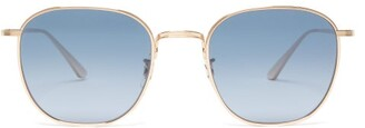 The Row X Oliver Peoples Board Meeting 2 Square Sunglasses - Womens - Gold