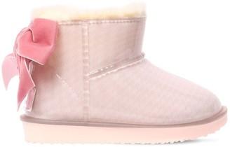 MonnaLisa Rubber Boots W/ Velvet Bow