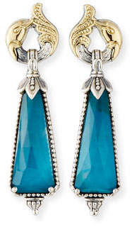 Konstantino Long Chrysocolla Doublet Drop Earrings