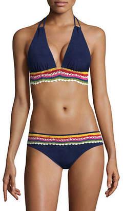 Nanette Lepore Heartbreaker Halter Crochet Bikini Swim Top