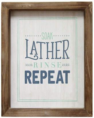 Stratton Home Decor Soap Lather Rinse Repeat Wall Art