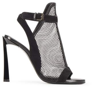 Lanvin Black Mesh Sandal
