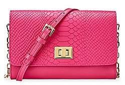 GiGi New York Women's Catherine Embossed Python Crossbody Bag