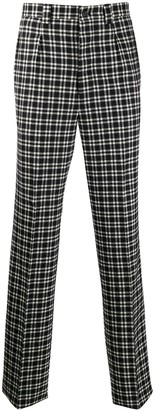 Givenchy high-waist plaid trousers