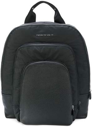 Emporio Armani multiple compartment backpack