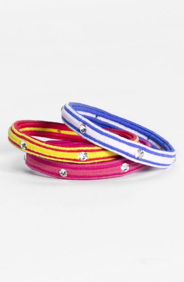 Cara Ponytail Holders (3-Pack) Green/ Pink/ Orange