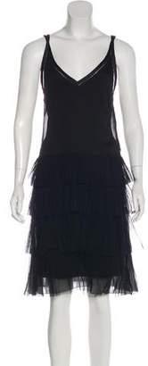 Alberta Ferretti Tiered Mini Dress