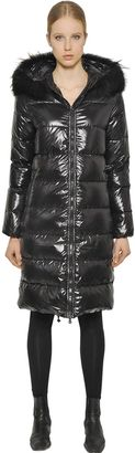 Alia Shiny Nylon & Murmansky Down Jacket $841 thestylecure.com