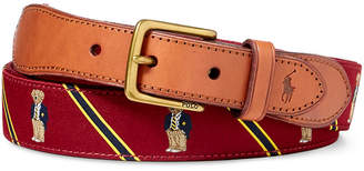 Polo Ralph Lauren Men's Polo Bear Belt $75 thestylecure.com