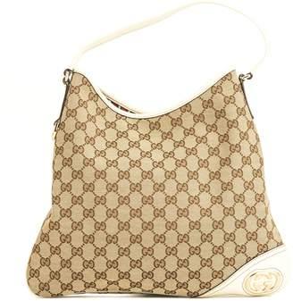 Gucci White GG Monogram Medium Britt Hobo (4014009)