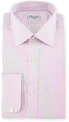 Charvet Striped Dress Shirt, Pink