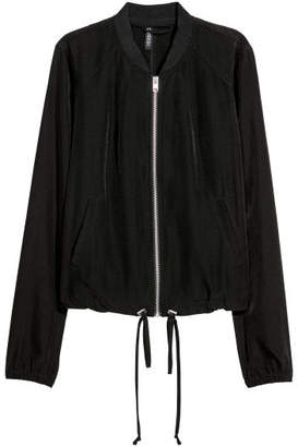 H&M Satin Bomber Jacket - Black