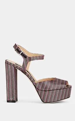 Sergio Rossi Women's Metallic Platform Sandals