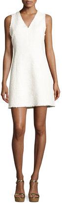 Rebecca Taylor Sleeveless V-Neck Tweed Mini Dress, White $425 thestylecure.com