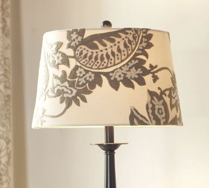 Bella Crewel Embroidered Tapered Drum Lamp Shade
