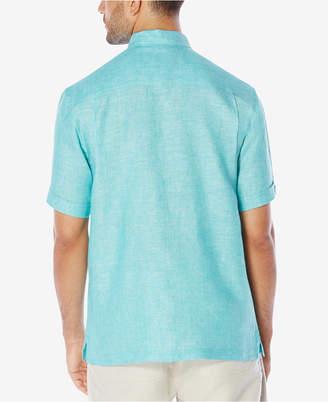 Cubavera Men Crosshatch 100% Linen Short-Sleeve Shirt