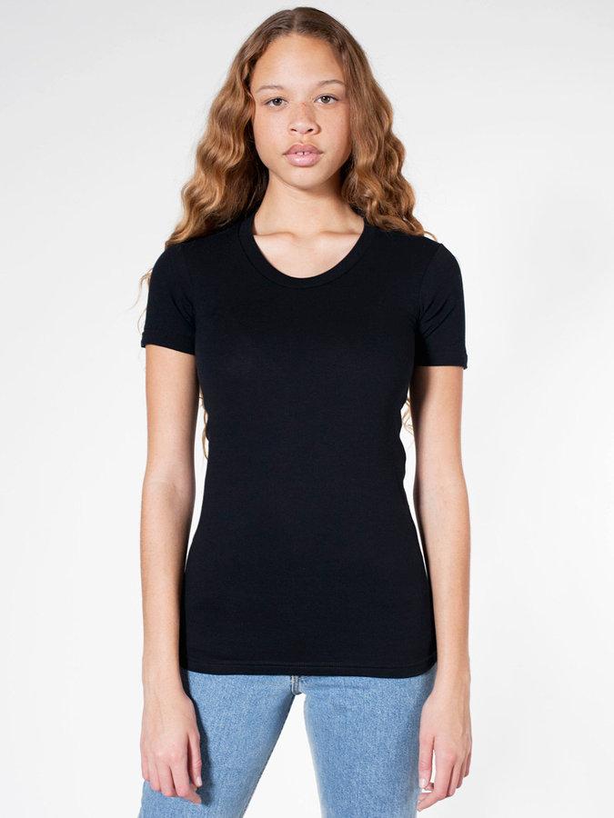 American Apparel Sheer Jersey Short Sleeve Women's Summer T