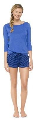 Xhilaration Top and Short Pajama Set Cabana Blue