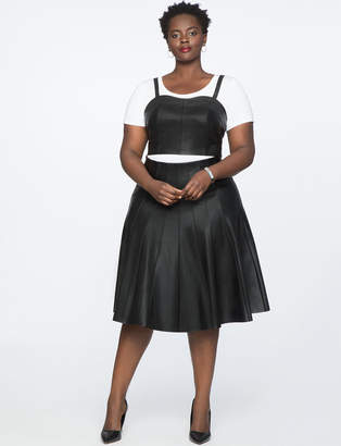Studio Faux Leather Pleated Skirt