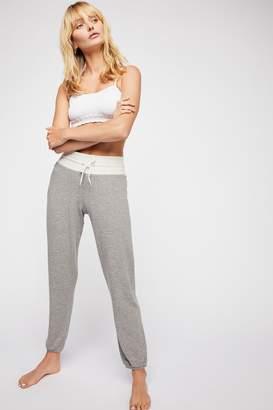 Monrow Super-Soft Two-Toned Sweatpants