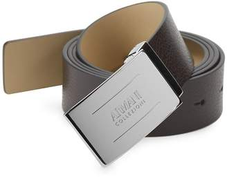 Armani Collezioni Men's Plate Leather Belt
