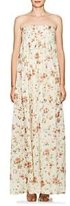 Brock Collection Women's Dilly Floral Cotton Maxi Dress - Cream