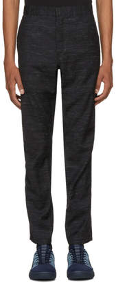 Lanvin Black Wool Biker Trousers