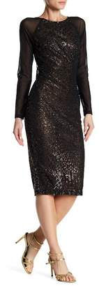 Wow Couture Beaded Leopard Print Mesh Dress