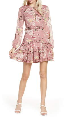 Bardot Hazel Floral Long Sleeve Minidress