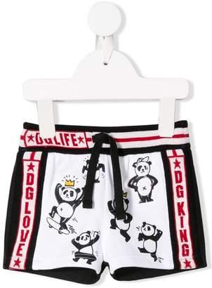 Dolce & Gabbana panda print shorts