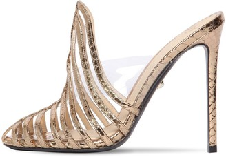 ALEVÌ Milano 110mm Leather & Plexi Mule Sandals