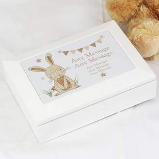 Keepsake Sassy Bloom As seen on TV Personalised Rabbit Wooden Jewellery Box