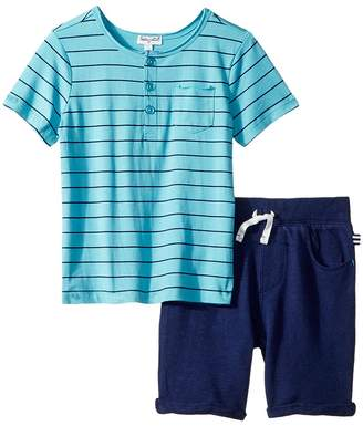 Splendid Littles Yarn-Dye Henley Tee Set Boy's Active Sets