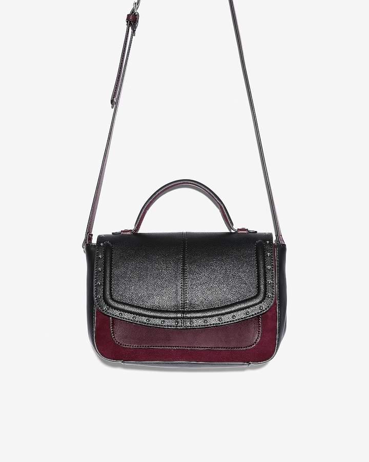 Express Studded Color Block Crossbody Bag
