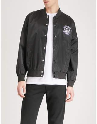 Obey x Misfits Fiend Club patch satin-shell jacket