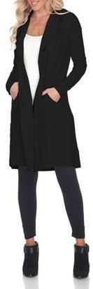 White Mark Women's Hooded Cardigan