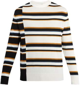 MAISON KITSUNÉ Striped cotton-knit sweater