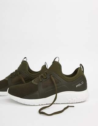 Polo Ralph Lauren Performance Train 150 Sneakers Mesh Neoprene Mix In Olive Green