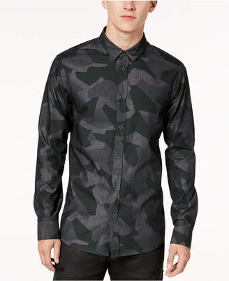 Armani Exchange Men's Camo-Print Slim Fit Shirt
