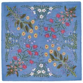 Gucci Flora print wool silk shawl