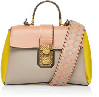 Bottega Veneta Multicolor Piazza Leather Top Handle Bag