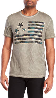 William Rast Graphic Metallic Flag Tee