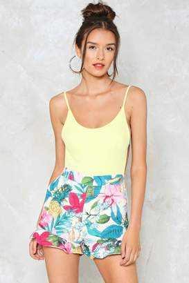 Nasty Gal Floral We Know Crepe Shorts