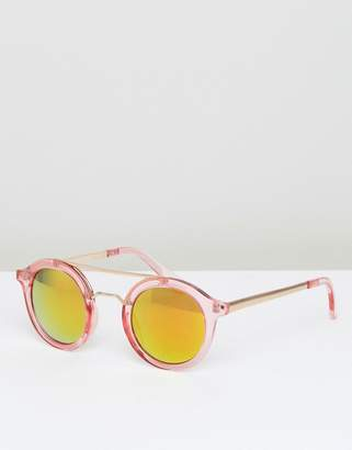 AJ Morgan Pink Mirror Round Sunglasses $19 thestylecure.com