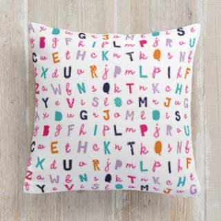 Letterz Square Pillow