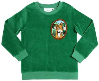 Mini Rodini Fox Organic Cotton Chenille Sweatshirt